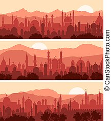 muslim, cityscapes