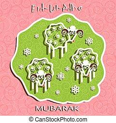 Muslim community festival of sacrifice Eid Ul Adha greeting...