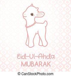 Muslim community festival of sacrifice Eid-Ul-Adha greeting...
