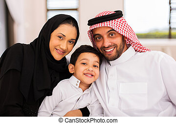 muslim family spending time together - happy muslim family...