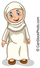 Muslim girl - Close up muslim girl standing