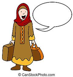Muslim Girl Traveler