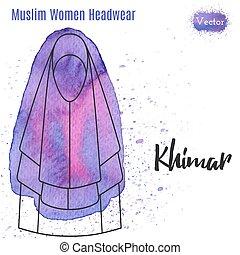 Muslim, Islamic female headgear - Muslim woman headwear,...