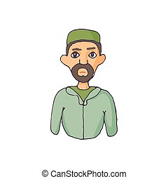 Muslim man icon in cartoon style