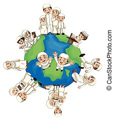 Muslim people around the world
