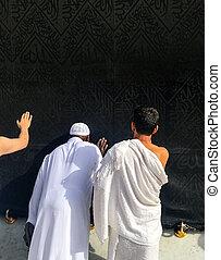 Muslim pilgrims, from all around the World