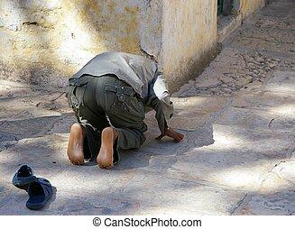 Muslim Prayer - a nod to Mecca