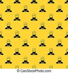 Muslim preacher pattern vector - Muslim preacher pattern...