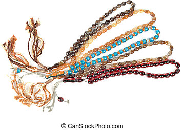 Muslim rosary beads - Muslim rosary beads, isolated on a...