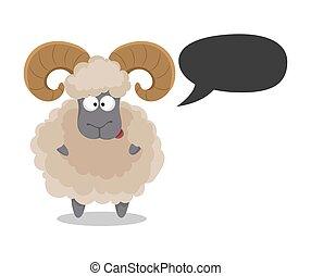 Muslim traditional holiday Eid al-Adha. Sacrifice a ram....