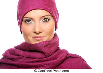 Muslim woman covered with a scarf