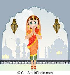 Muslim woman prayer