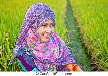Muslim Woman Wearing Hijab