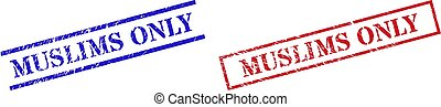MUSLIMS ONLY Textured Rubber Seal Stamps with Rectangle Frame