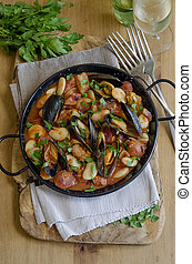 Mussel and bean stew