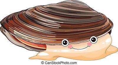 Mussel - Illustration of cute mussel