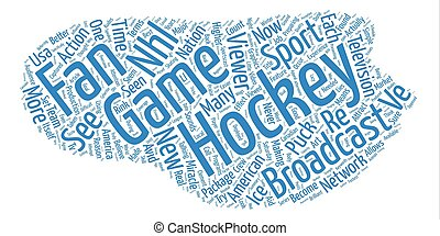 Must See Hockey text background word cloud concept