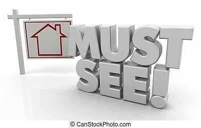 Must See Hot Property House for Sale Sign 3d Illustration