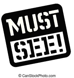 Must see stencil stamp. Rectangular bold sign, label