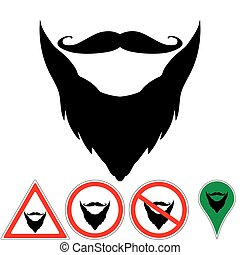 mustache and beard are sign, pointer, prohibition mustache...