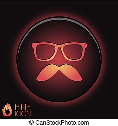 mustache and glasses. hipster icon symbol .