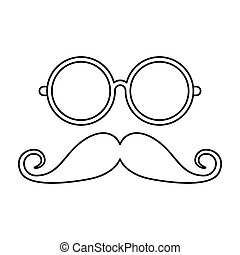 mustache and glasses hipster style