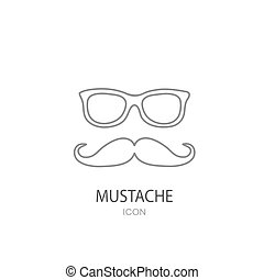 Mustache and Glasses sign icon. Hipster symbol