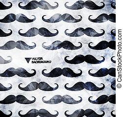 Mustache background in modern style
