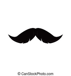 mustache hipster on white background