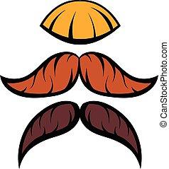 Mustache icon cartoon