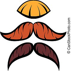 Mustache icon cartoon