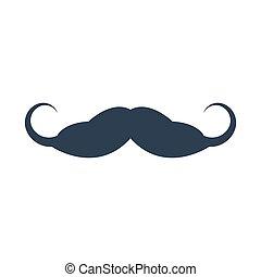 Mustache icon on white background.