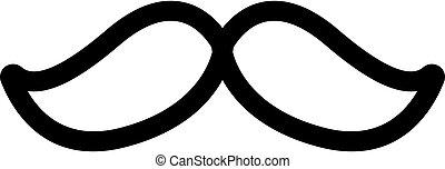 mustache icon vector. Isolated contour symbol illustration
