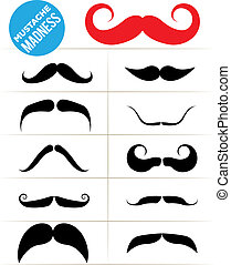 Mustache Madness - Set of funky mustache types