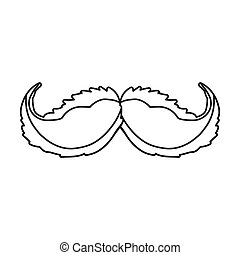 mustache male hair design