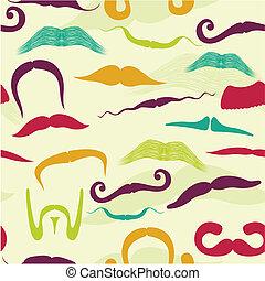mustache, model, seamless