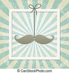Mustache retro background
