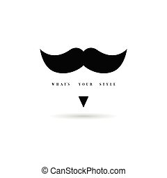 mustache style icon in black color illustration