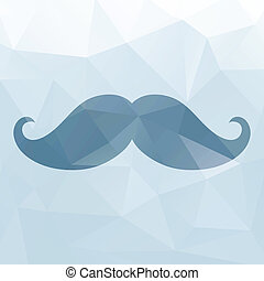 Mustache triangles background - Hipster background made of...