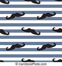 Mustache vector tile background
