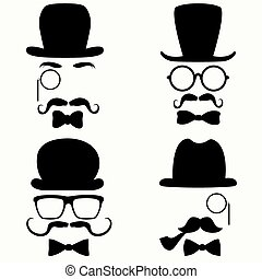 Mustache Vintage Collection - Collection of vintage style...