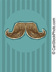 mustaches background. Vector illustration for design