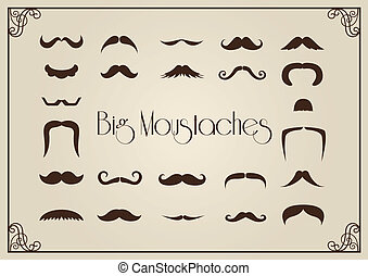 Collection of big mustaches, various style