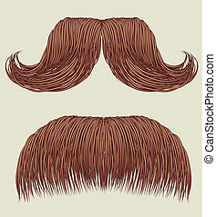 Mustaches for man. Vector collection for design