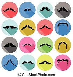 mustaches icons
