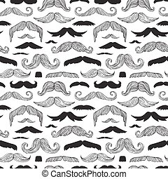 Mustaches seamless pattern vector.