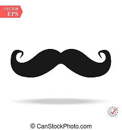 Mustaches vector icon. Italy mustache icon. Simple illustration of italy mustache vector icon for web