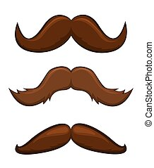 Mustaches vector illustration