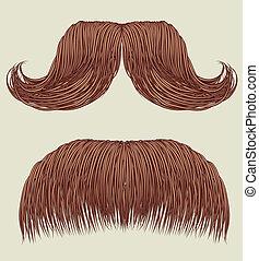 mustaches, voor, man