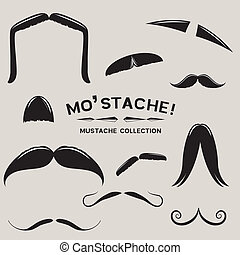 Mustachio! Vector Mustache Set - Mustachio! Vector Mustache...